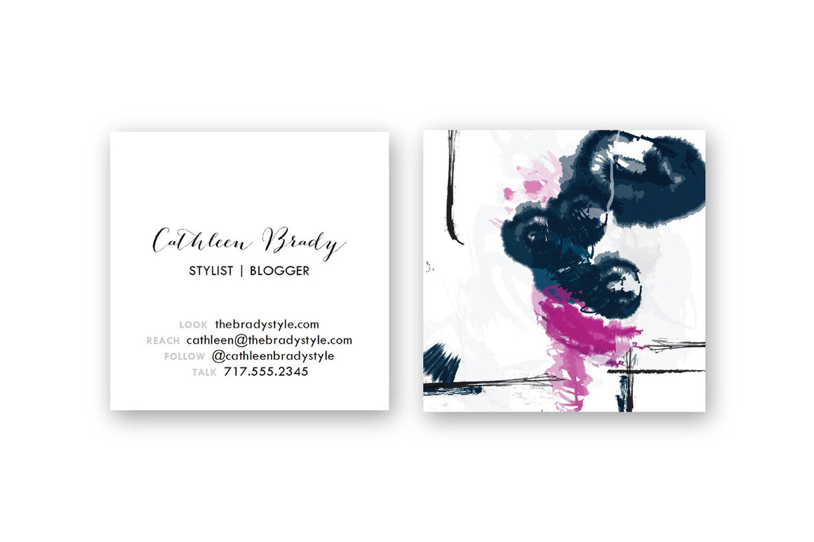 Abstract #14 Calling Cards | Blogger Cards | Square Business Cards