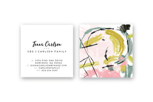 Abstract #21 Calling Cards | Blogger Cards | Business Cards | Square Calling Cards