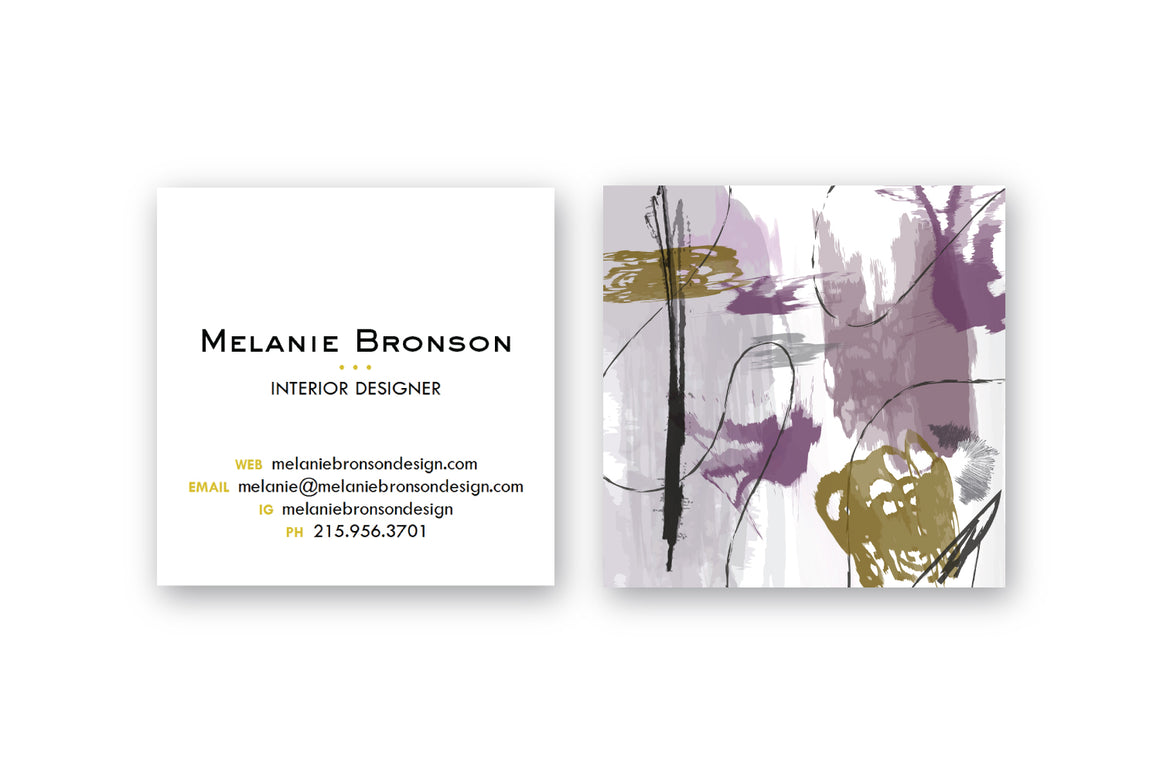 Abstract #25 Calling Cards Plum Bronze