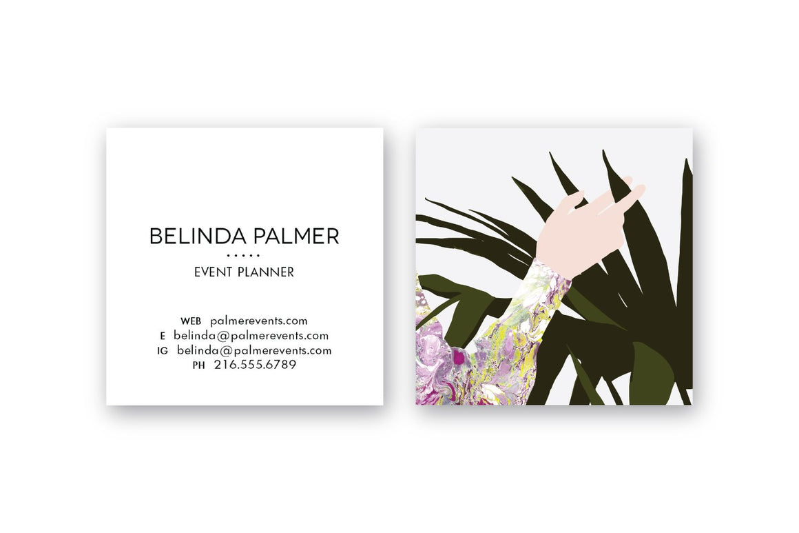Hand with Plant Calling Cards | Blogger Cards | Business Cards