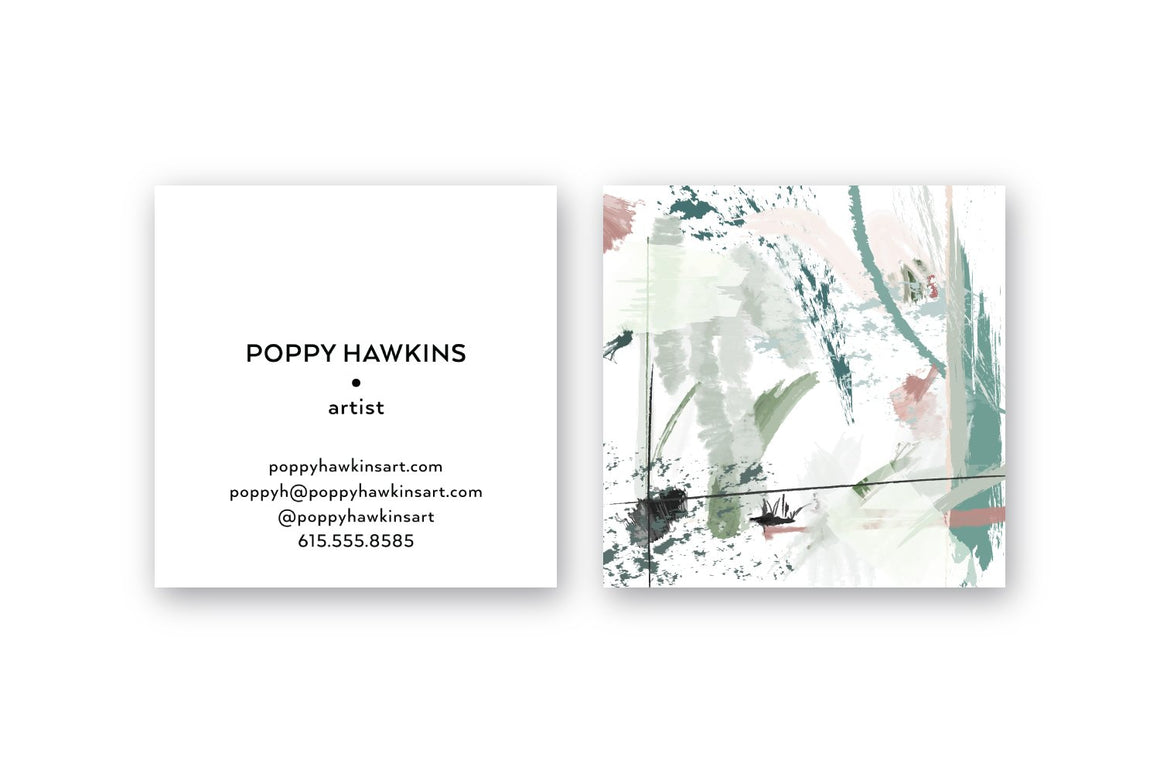 Pastel #2 Abstract Calling Cards | Square Calling Cards | Business Cards