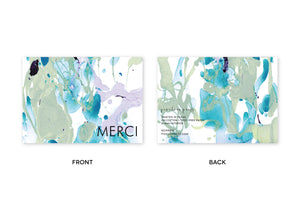 MERCI Aqua Eucalyptus Lilac Marble Notes