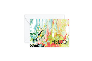 HELLO Wild Marble Notecards