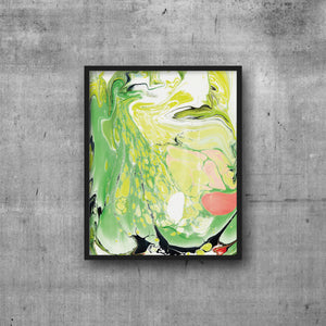ART PRINT 8x10 Green + Coral Marble