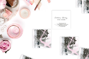 Abstract #10 Calling Cards Blush Taupe Lifestyle