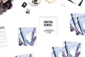 Abstract #15 Calling Cards | Blogger Cards | Periwinkle Plum Indigo Lifestyle