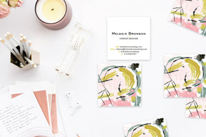 Abstract #21 Calling Cards | Blogger Cards | Business Cards | Square Calling Cards Lifestyle