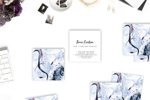 Abstract #28 Calling Cards | Indigo | Periwinkle lifestyle