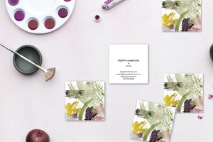 Abstract Sage | Plum | Gold Calling Cards #7 Lifestyle
