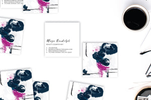 Abstract #14 Calling Cards | Blogger Cards | Square Business Cards Lifestyle