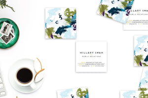 Abstract #9 Calling Cards | Square Blogger Cards Lifestyle