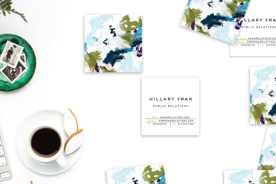 Abstract #9 Calling Cards | Square Blogger Cards
