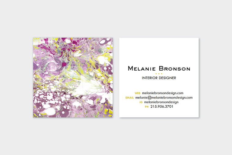 Purple Marble Calling Cards | Blogger Cards | Business Cards by pixelimpress