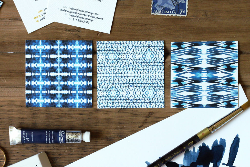Shibori Double Sided Calling Cards