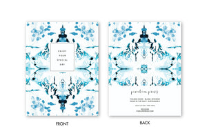 ENJOY YOUR SPECIAL DAY Blue + White Chinoiserie Card