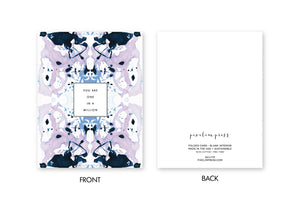 ONE IN A MILLION Lavender Indigo Tiled Marble Card