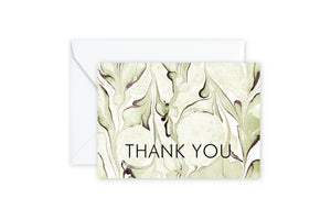 THANK YOU Sage Green Marble Notecards