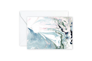 Aqua Sage Marble Notecards