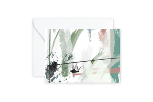 Mint Abstract Notecards