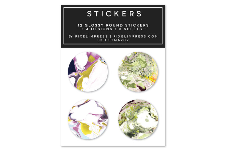 Designer Sticker Set II - (12) Stickers