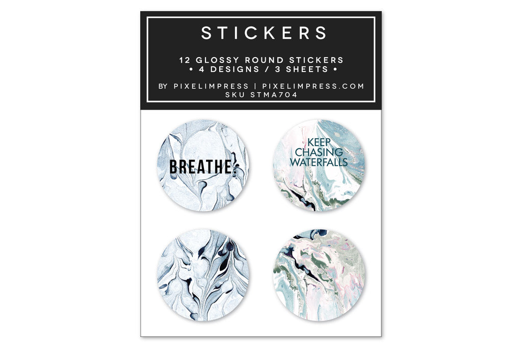 Designer Sticker Set IV - (12) Stickers