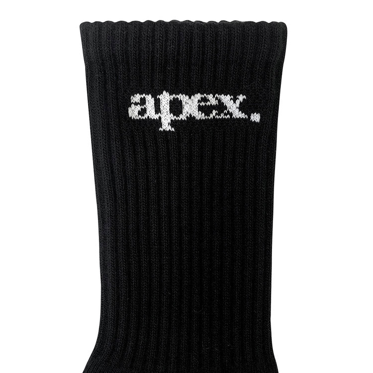 APEX CREW SOCKS / BLACK
