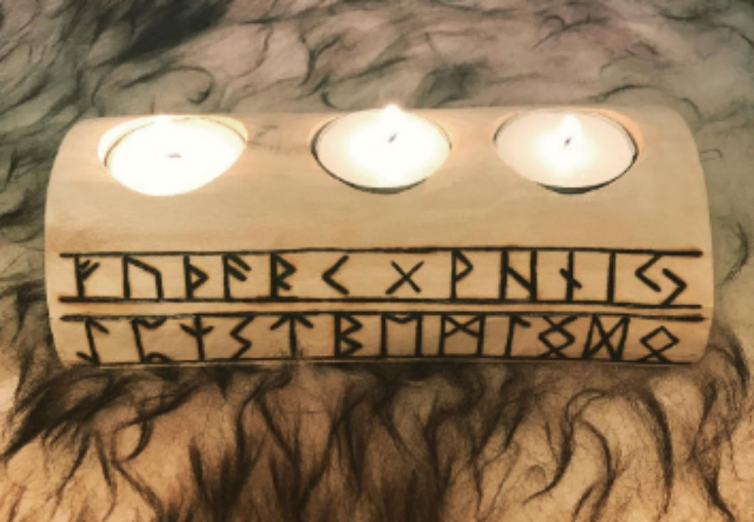 Personalized Rune Tea Light Holder