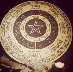 Wheel of the Year Crystal Grid