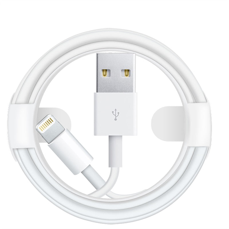 High Quality USB Charger Cable For iPhone 11 X 7 8 Plus XS Max XR 6 6S 5 5S 5C SE iPad 4 Air 2 mini 2 3 Pro Data Line Wire 2m 3m