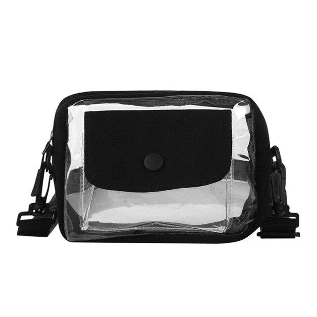 Woman Small Clear Crossbody Bag Messenger Handbags Girls Casual Transparent PVC Shoulder Bags For Girls Small Phone Bags