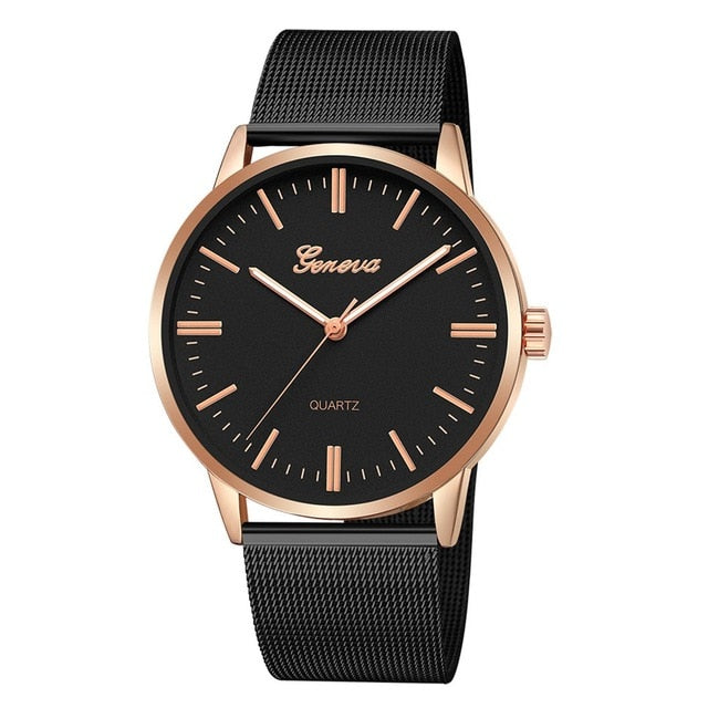 Fashion Casual watches Womens Men Classic Quartz Stainless Steel Wrist Watch Bracelet Watches Black White Dial Case 2020