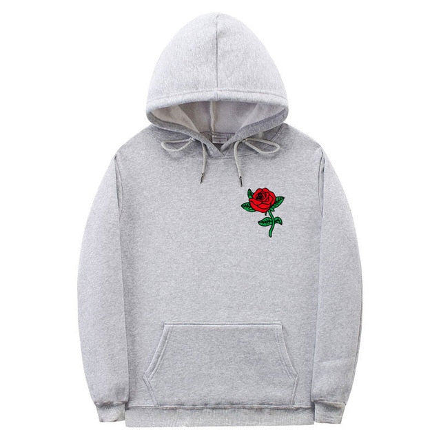 New Fashion 2019 Autumn Winter Latest Harajuku Poison Rose Print Hoodies High Quality Men Women Hip Hop Streetwear Clothing