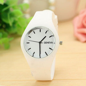 Women Fashion Stainless Steel Silicone Strap Analog Quartz Wrist Watch Luxury Simple Style Designed Bracelet Watches Women Clock