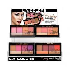 12 Unidades L.A. COLORS So Cheeky Blush & Highlighter - Peaches & Cream