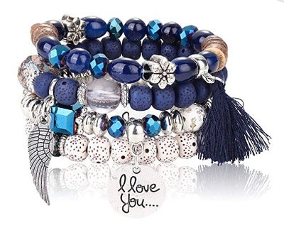 Bohemian Stretch Beaded Bracelets for Women and Men.