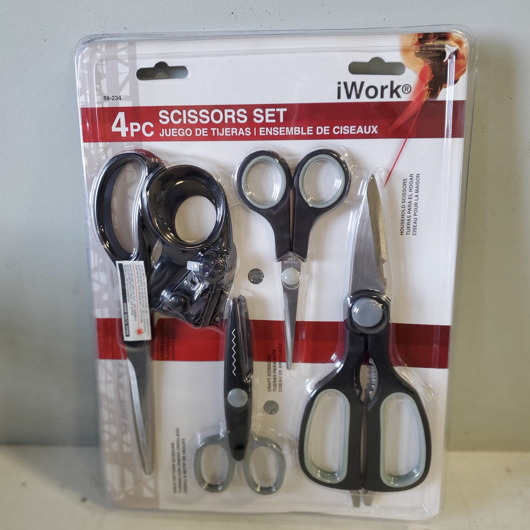 4pc Scissor set