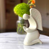 Praying Angel Soapstone Sculpture - Natural Stone