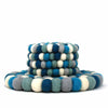 Ice Blue Felt Ball Trivet & 4-piece Coaster Set