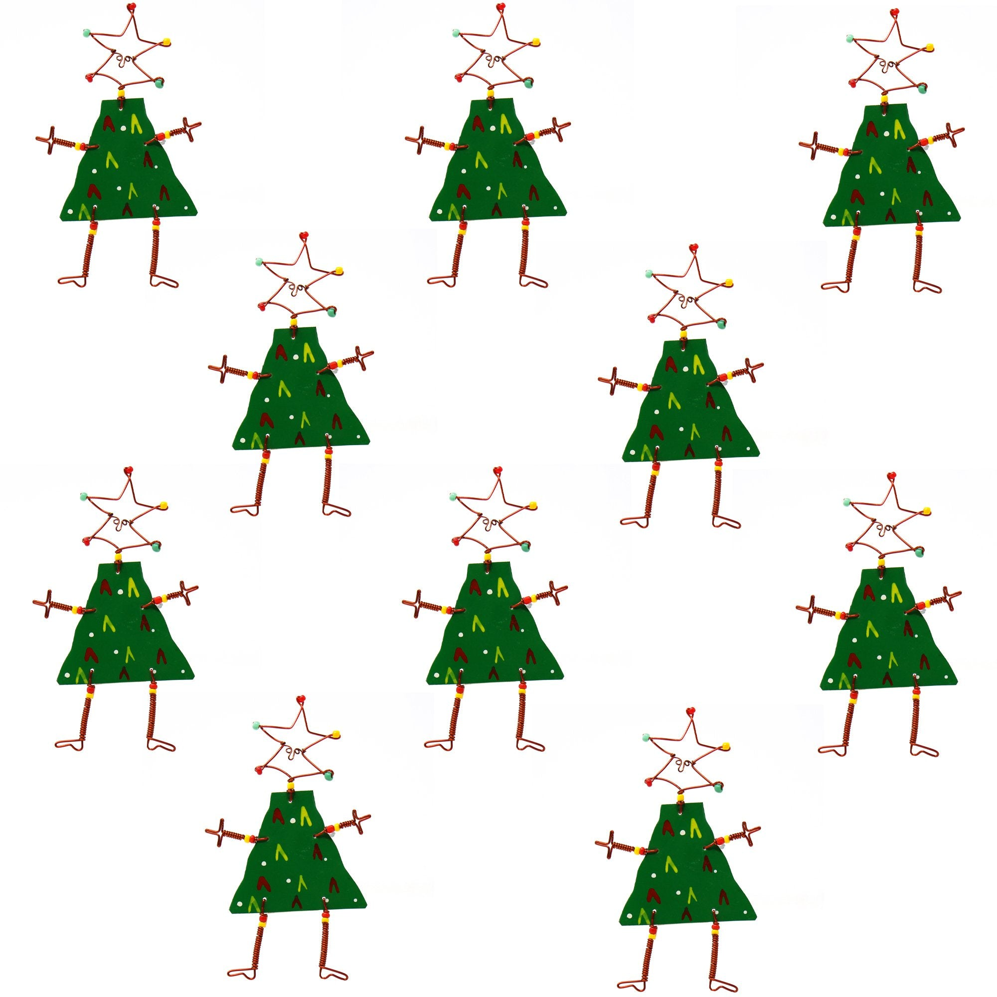Set of 10 Dancing Girl Christmas Tree Pins - Creative Alternatives