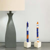Tall Hand Painted Candles - Pair - Durra Design - Nobunto
