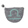 Felt Libra Zodiac Coin Purse - Global Groove