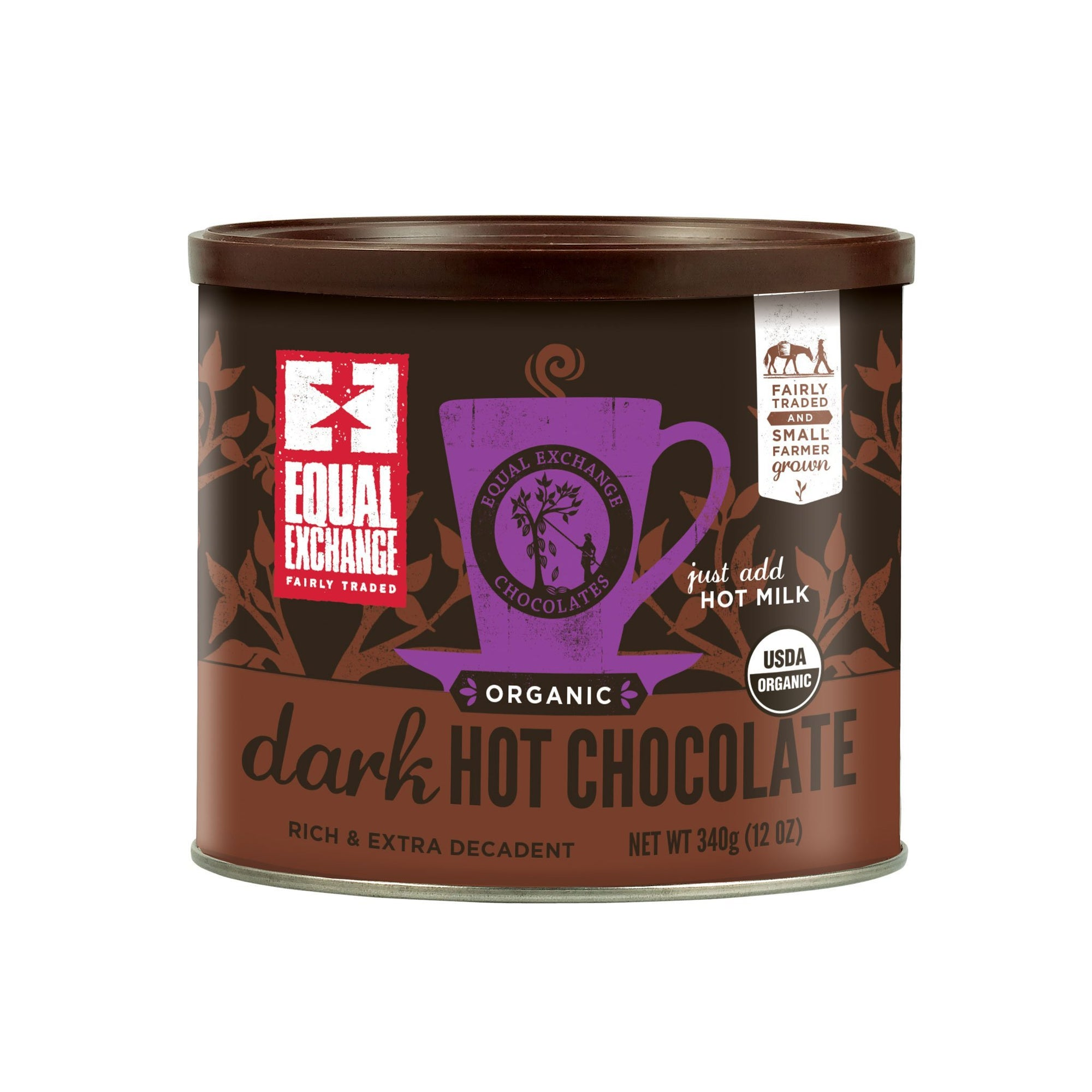ORGANIC DARK HOT CHOCOLATE MIX - 12 OZ )IS)