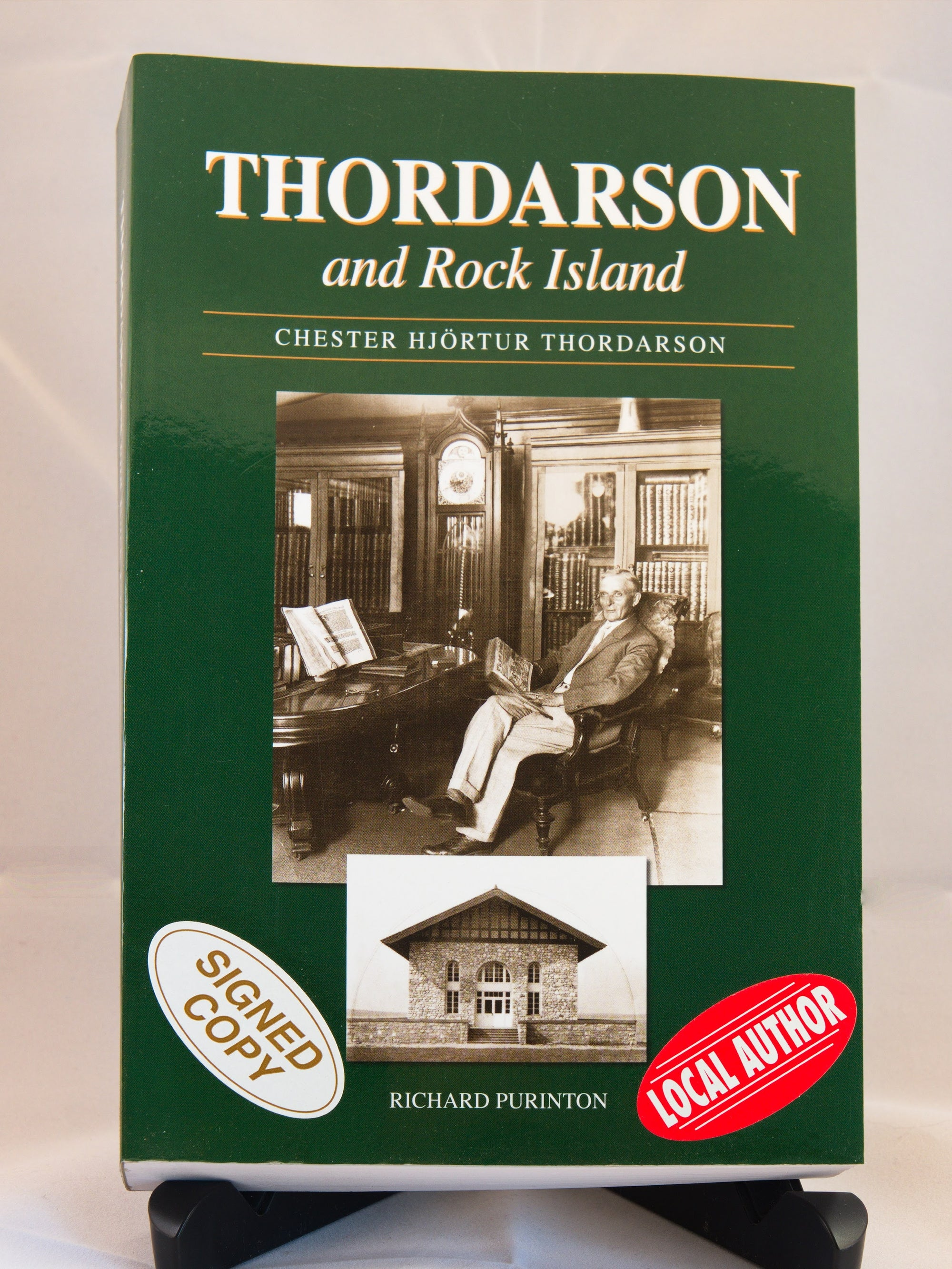 Thordarson and Rock Island by author Richard Purinton - signed copy (IS)