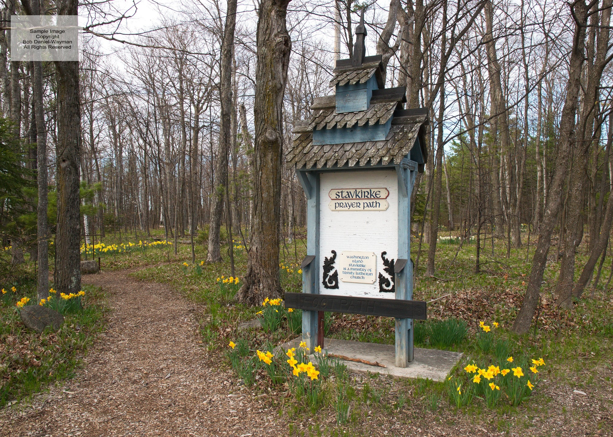 Stavkirke Prayer Path in Spring