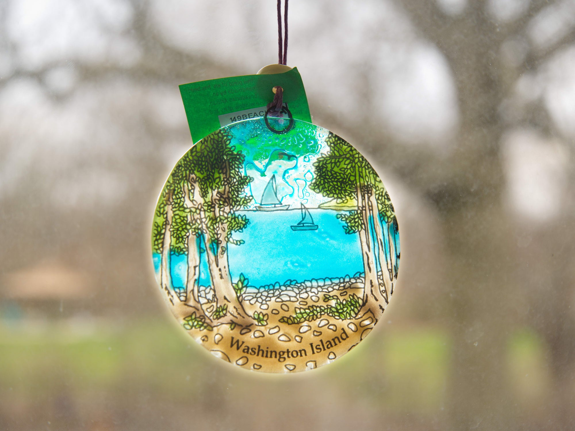Suncatcher & Ornament - Washington Island scene (IS)