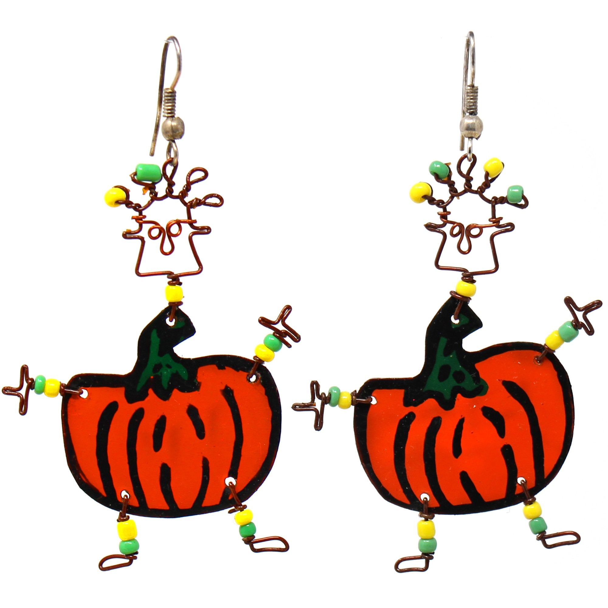 Dancing Girl Pumpkin Earrings - Creative Alternatives
