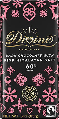 60% Dark Chocolate Bar with Pink Himalayan Salt (IS)