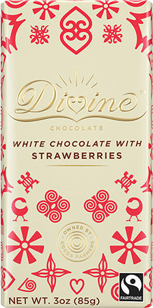White Chocolate Bar with Strawberries (IS)