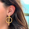 Earrings: Brass Bisected Circles