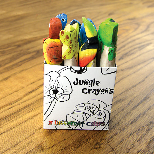 Jungle Crayons, Carved from Balsa Wood in Ecuador (IS)